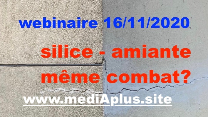 WEBINAIRE A+: SILICE – AMIANTE: MÊME COMBAT?