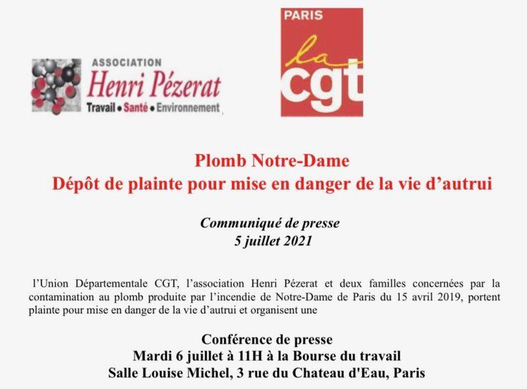 06/07/21 – Plomb à Notre-Dame : plainte pour mise en danger d'autrui